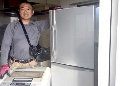 石巻便利屋フォーカスの冷蔵庫回収