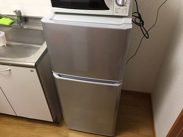 石巻便利屋フォーカスの買い物同行事例紹介写真(リサイクルショップで購入した冷蔵庫と電子レンジ)