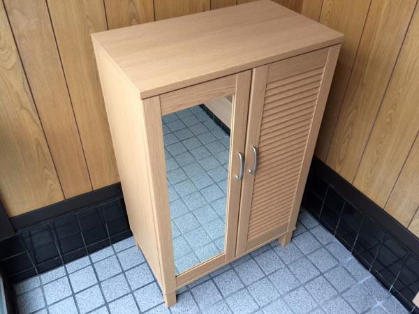 石巻便利屋フォーカスの家具組み立て代行事例(ニトリの下駄箱(シューズラック)の組み立て完了)