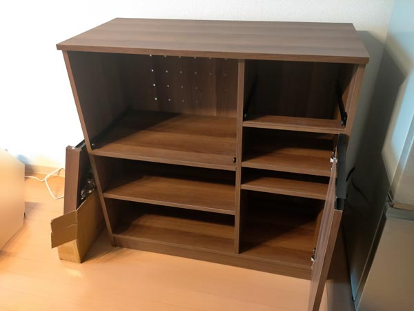 石巻便利屋フォーカスの家具組み立て代行事例(途中で断念した食器棚の組み立て代行)